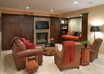 Basement Family Room and Home Theater