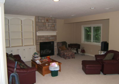 Basement Family Room Before-1