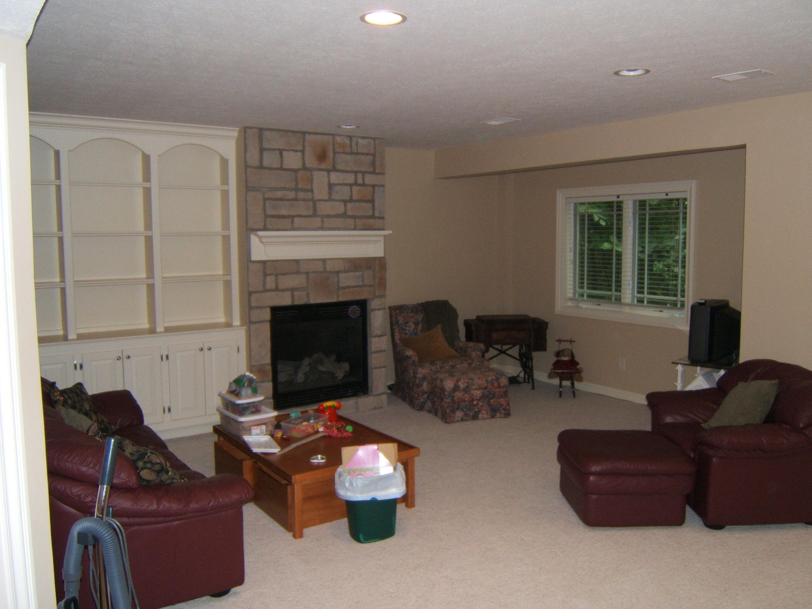 Basement Family Room Before 1. BEFORE