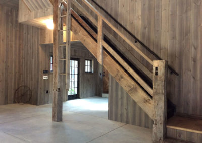 Black-Barn-Stairs-with-Beam-Ladder